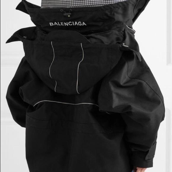Balenciaga Jackets Amp Coats Swing Parka Jacket Poshmark